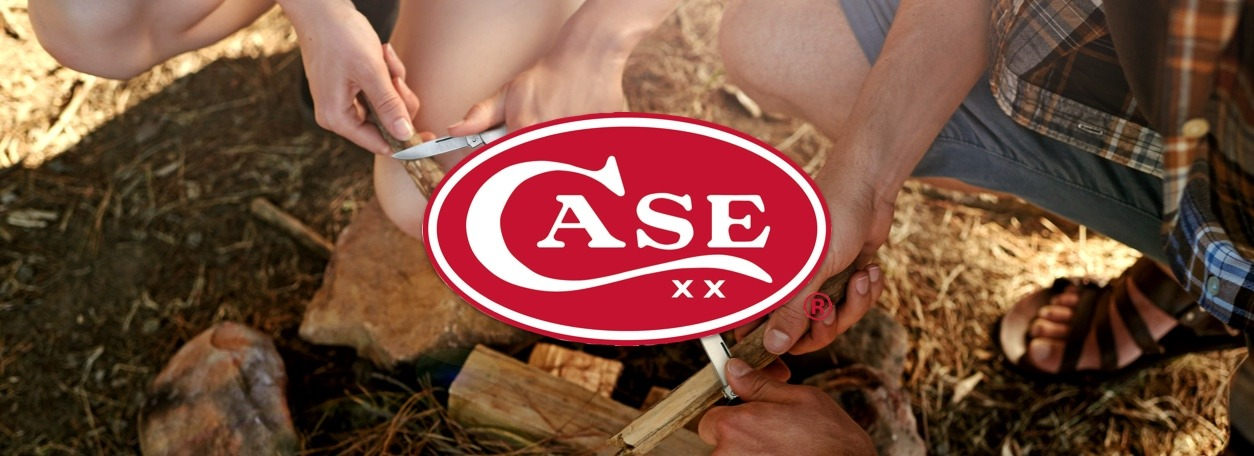 Case Knives logo with people holding case knives
